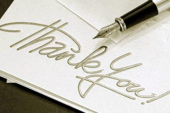 thank you note baby gift