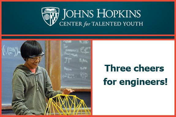 Engineers and engineering, here are suggestions for CTY summer, online, and family programs for kids in grades 2-12 that will appeal to problem solvers, creative thinkers, and budding engineers.