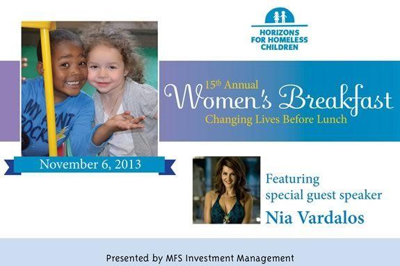 Horizons for Homeless Children's 15th Annual Women's Breakfast.