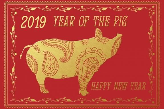 Abbott Library in Marblehead Massachusetts celebrates the Year of the Pig