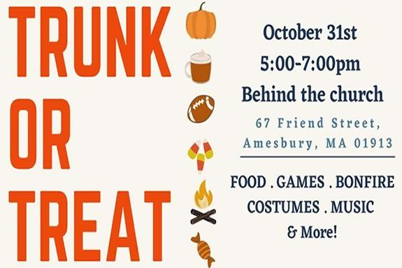 All Saints Anglican Church hosts a Halloween Trunk or Treat in Amesbury MA