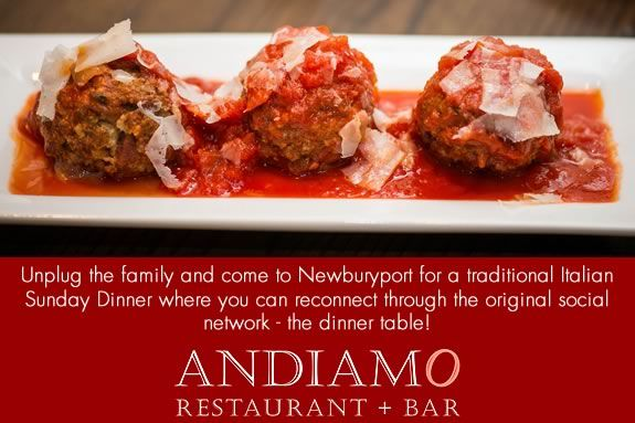 Unplug and enjoy a traditional italian dinner witht the family at Andiamo!