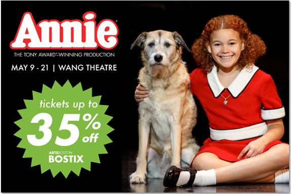 Ticket Deal for Annie in Boston – Up to 35% Off