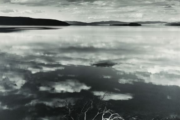 Reflections at Mono Lake, California, 1948, Photograph by Ansel Adams ©2011