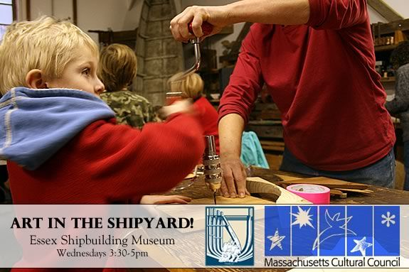 Kids will create art at the Essex Shipbuilding Musem each Wednesday afternoon!