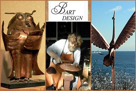 Tour Bart Stuyf's beautiful seaside Design Studio and see his copper sculptures!