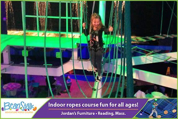 Beanstalk Adventure Indoor Ropes Course at Jordans Furniture