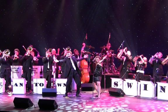 Beantown Swing will perform a Holiday Concert at the Cabot Theater, Beverly MA
