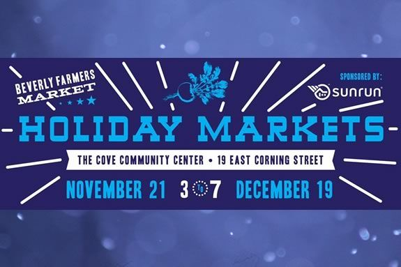 The Beverly Holiday Farmers Market is held indoors at the Cove Community Center
