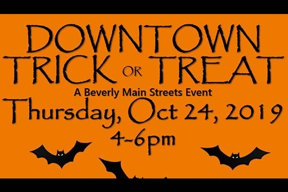 Trick or treat in Downtown Beverly Massachusetts!