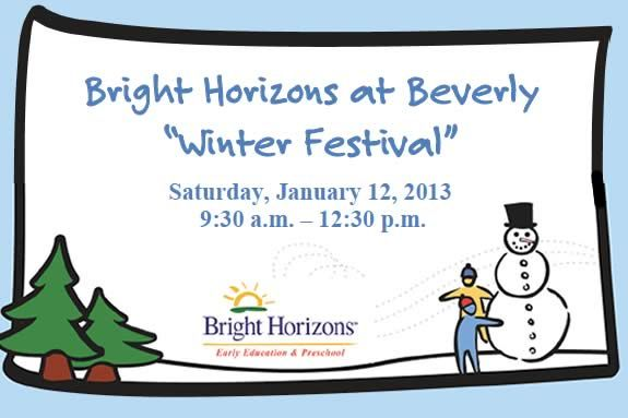Bright Horizons Winter Festival Experience for Toddlers and Preschoolers