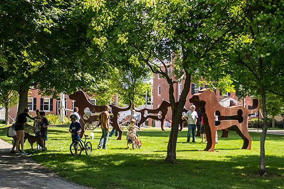 Big Dog Show is a travelling large-scale public art exhibit