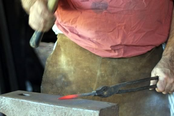 Join the staff at Saugus Iron Works National Historic Site for a blacksmithing demonstration during Sails and Trails