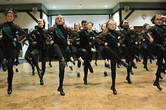 Bosoma School of Dance performs in Beverly Massachusetts on Saint Patricks Day!