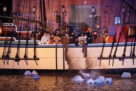 Celebrate and re-enact the single most important event leading up to the American Revolution—the Boston Tea Party