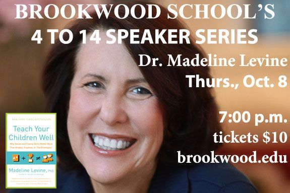 Brookwood School Manchester MA Speaker Event, New York Times Best Selling Author Dr. Madeline Levine
