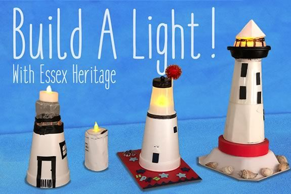 Kids are invited to come build their own lighthouse with Essex Heritage at the Salem Massachusetts Visitors Center