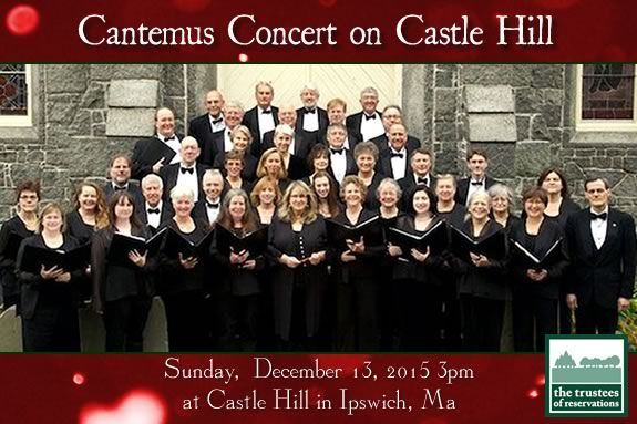 Celebrate the Holidays with a choral concert featuring Cantemus at Castle Hill on the Crane Estate in Ipswich Massachusetts.