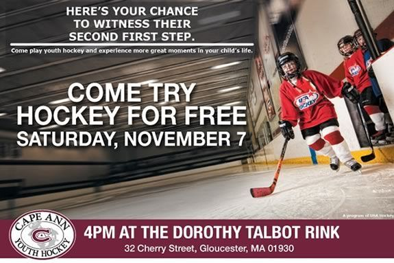 Kids are invited to Dorthy Talbot Rink in Gloucester to try hockey for FREE!