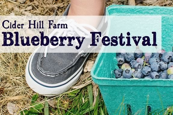 Blueberry Festival at Cider Hill farm in Amesbury Massachusetts