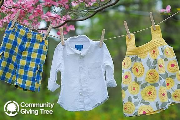 Community Giving Tree Spring clothing drive at Ipswich Birth to Three Family Center