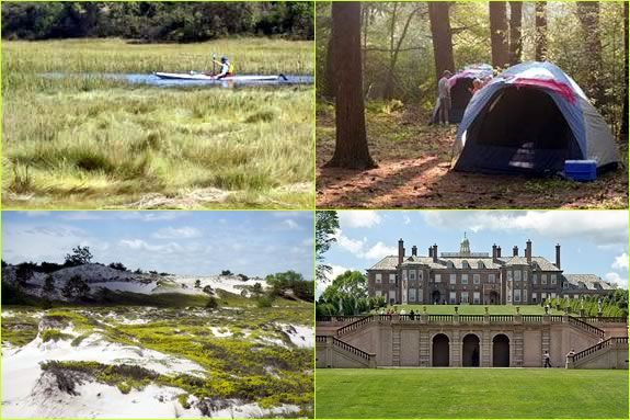 campout with the Trusteees at the Crane Estate in Ipswich Massachusetts for Fathers Day!
