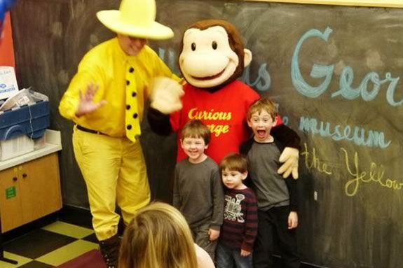 Kids will be able to meet Curious George and the Man with the Yellow Hat at the