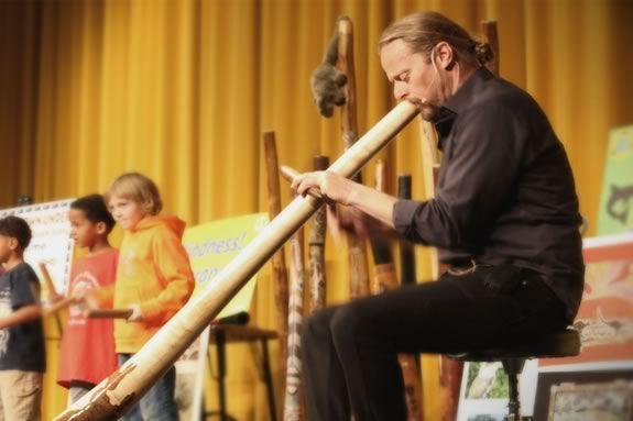 Digeridoos Down Under at the TOHP Burnham Public Library in Essex Massachusetts