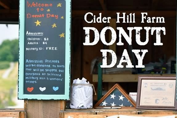 Donut Day at Cider Hill farm in Amesbury Massachusetts