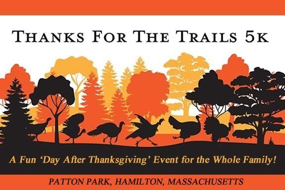ECGA's Thanks for the Trails 5k Race on the Friday after Thanksgiving in Patton Park