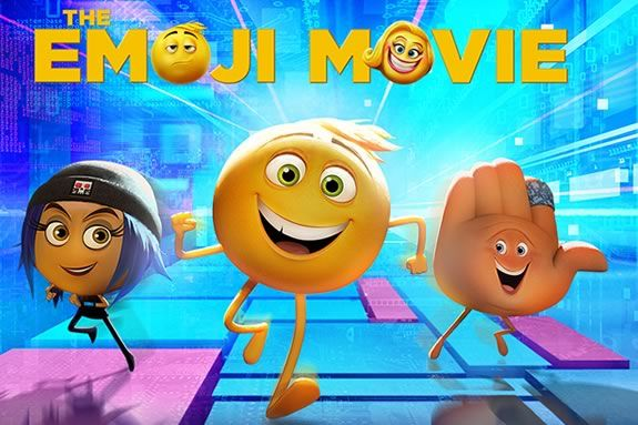 Newbury Town Library will be showing the Emoji Movie on a half day of school