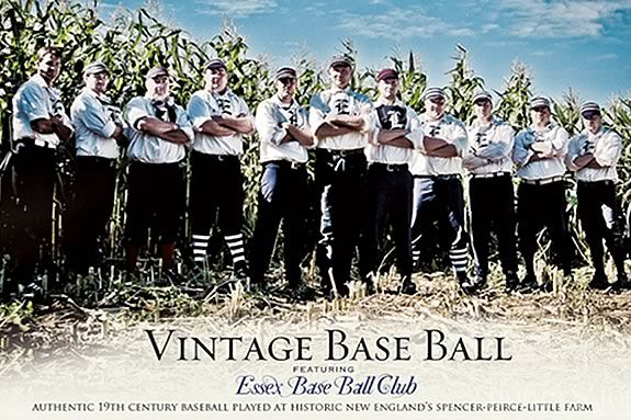 Come see how baseball used to be played (circa 1860s) at Spencer Pierce Farm
