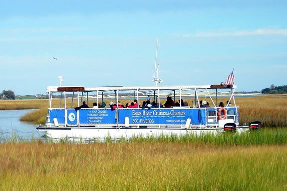 Take a guided tour of the Essex Marshes with Essex River Cruises for Trails & Sails