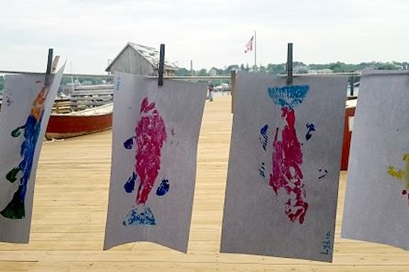Join the team at Maritime Gloucester for a Fish Print Workshop!