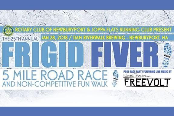The Frigid Fiver starts and ends at Riverwalk Brewing in Newburyport!