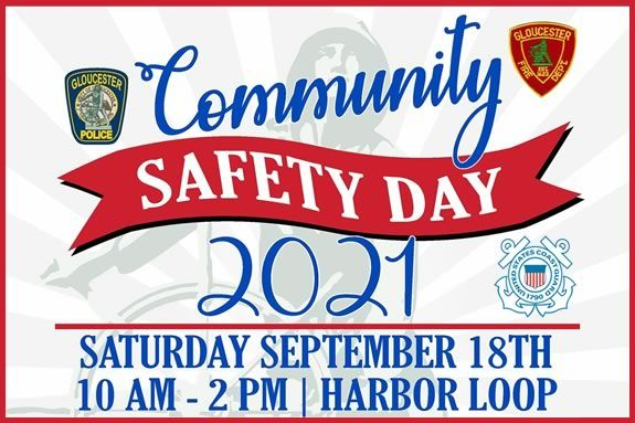 Come to Harbor Loop for a kid friendly day of public safety demonstrations by the US Coast GaurdGloucester Fire Department and Police.