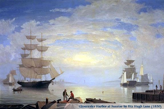 Gloucester Harbor at Sunrise By Fitz Henry Lane at the Cape Ann Museum