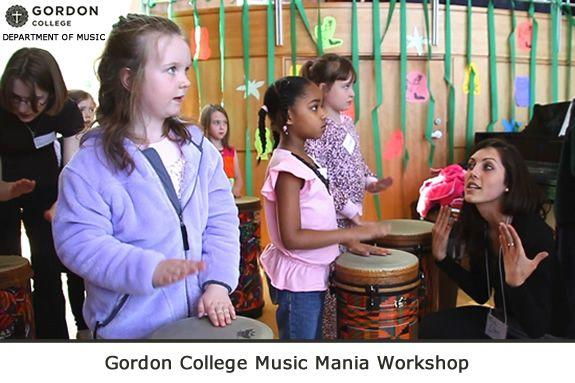 Gordon College Music Mania Workshop – for Pre-K through Grade 6 Wenham MA
