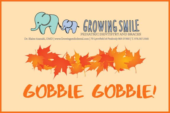 Thanksgiving Craft at Growing Smile Pediatric Dentristry and Braces