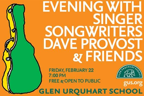 Evening with Singer and Songwriters Dave Provost & Friends