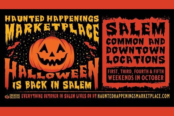 The Haunted Happenings Marketplace runs on weekends during October in Salem Massachusetts