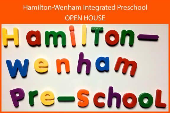 Hamilton-Wenham Integrated Preschool Open House