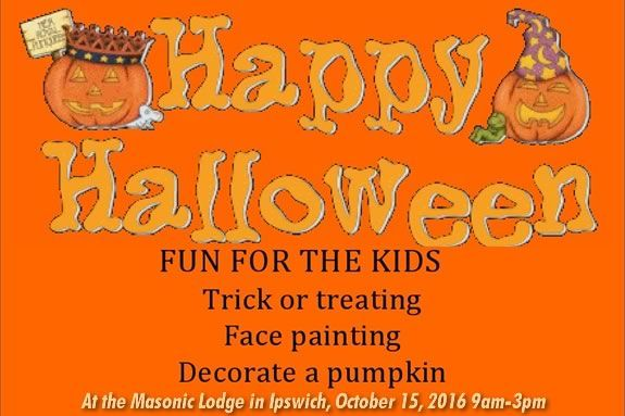 Bring the kids to the Masonic Lodge in Ipswich for some Halloween fun