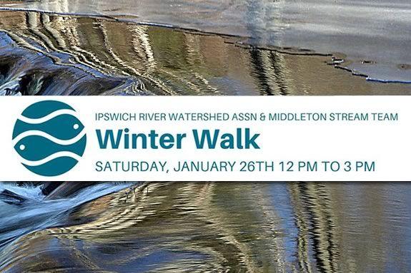 Ipswich River Watershed Association Winter Walk in Middleton Massachusetts