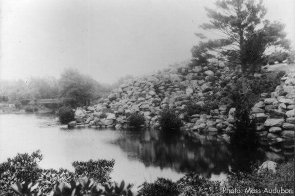 The Rockery at Ipswich River Wildlife Sanctuary circa 1950.
