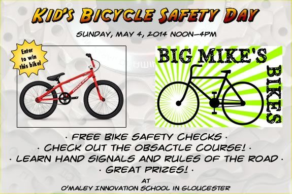 Come to the First Annual Kid's Bike Safety Day hosted by Big Mike's Bikes!