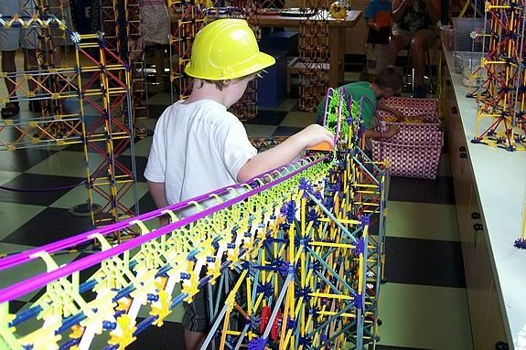 KNEX Colossal Construction is a limited time engagement at CMNH