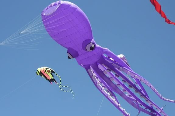 Come to NPL to make kite art to get excited for the Newburyport Winter Kite Festival. Photo: Kites Over New England