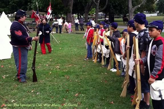 rought back by popular demand! As part of the 13th Annual Civil War Weekend, the Lawrence Civil War Memorial Gaurd's Children's Muster Trails & Sails 2015