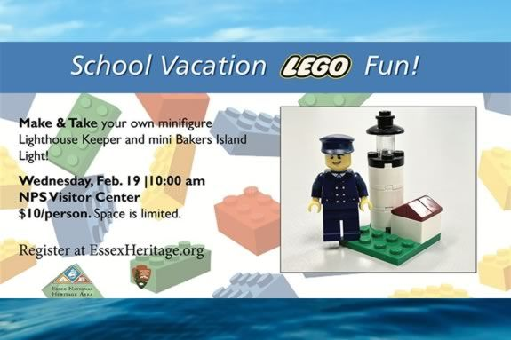 Get a LEGO replica of the Bakers Island Light at the Salem Visitor Center